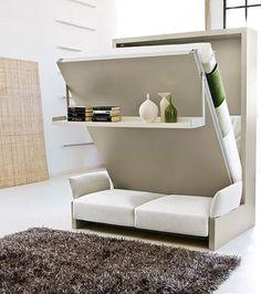 Mobilier modulable: Ce lit est également un canapé