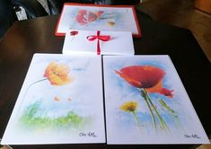 Papier à lettres réalisé à partir des photos de coquelicots de Céline Photos Art Nature Plastic Cutting Board, Tableware, Nature, Photos, Etsy, Art, Poppies, Letters, Handmade Gifts
