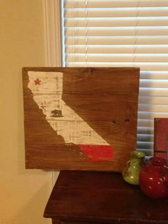 California distressed sign