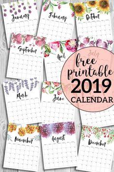 2019 printable calendar craft calendar 2019 calendar free