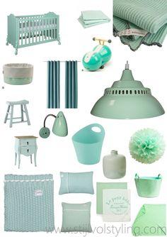 Kleur & Interieur   Inspiratie - mintgroen voor de Babykamer & Kinderkamer – Stijlvol Styling - WoonblogStijlvol Styling – Woonblog