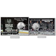 Los Angeles Kings 2014 SC Champions Banner Raising Ceremony Silver Coin Card