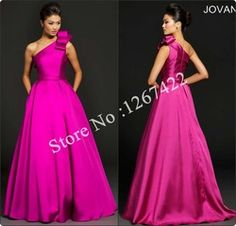 Online Shop Sexy One shoulder Exquisite Ruffled Hot Pink Long Party Formal Dress Plus Size Ball Gown Special Occasion Gowns Custom Made|Aliexpress Mobile