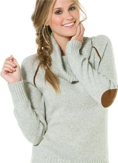 Cowl neck sweater with arm patch details.http://www.swell.com/New-Arrivals-Womens/LAMADE-COWL-NECK-PATCH-SWEATER?cs=GR