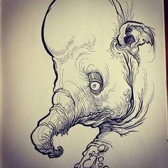 Inside the big sketchbook…
