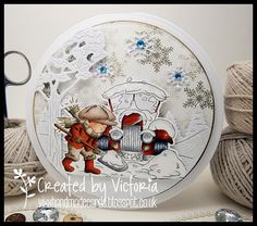 Vixx Handmade Cards: LILI OF THE VALLEY DT POST ~ SNOW SHOVEL....