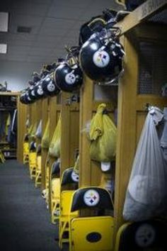 Steelers football.....the locker room at Heinz Field. I took this while i was there working. Lol