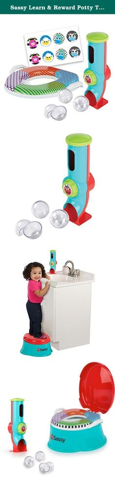 Sassy Learn & Reward Potty Trainer. The Sassy Baby Potty and Rewards System with rewards dispenser includes a potty seat, potty trainer and step stool all in one. Sassy Baby Potty and Rewards System: - Customize your child's rewards with the included dispenser - Contains 3 reward capsules and you put in the reward of your choice - Includes sticker starter set - Dispenser has easy to grip knob for little hands to operate -Soft and easy-to-clean seat -Potty ring can be removed and used on...