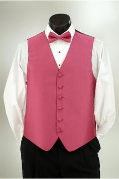 Fuschia vest and matching tie at Tuxedo Junction.