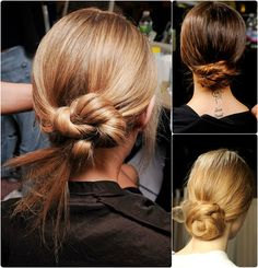 delicate and chic chignon with silky hair extensions