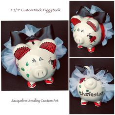 piggy banking Excited to share this item from my shop: Your CUSTOM Hand Painted and Personalized Piggy Banks-Shipping and Handling INCLUDED in price Kiss Emoji, Personalized Piggy Bank, Piggy Banks, Custom Art, Baby Gifts, Hand Painted, Etsy Shop, Ceramics, Crafts
