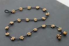 Daisy Bead Necklace por XtraVirgin en Etsy