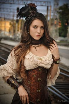 Steampunk. Alexandra . train by Allsteam.deviantart.com on @DeviantArt More