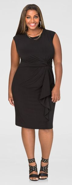 Plus Size Knot Waist Dress
