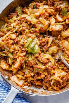 Perfect for your weeknight dinners, this fried cabbage recipe with sausage is an easy throw-together recipe you can make in 30 minutes. Cabbage Recipes With Sausage, Smoked Sausage Recipes, Chorizo Recipes, Pork Recipes, Cooking Recipes, Recipies, Keto Recipes, Sausage Cabbage Skillet, Sausage Pasta