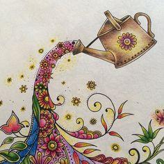 Meditation Art Color Pencil Coloured Pencils Garden Pictures Johanna Basford Adult Coloring Books Mandala Relax