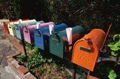 Colorful Row Of Mailboxes By VisionsofAmerica Joe Sohm On Getty Images ,made Of Metal With Best Design.