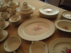 Spode Billingsley Rose China 1920's Pattern 2/8867 61 Pieces Total NICE Old Set #Spode