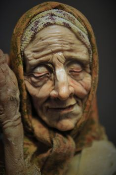 The Old Woman Close up by MarylinFill