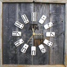 Did the kids lose pieces to the Mexican Train game? Make a wall clock out of the left overs.