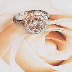 My latest: #morganite and double halo #diamondring in white & rose  #girly #elegance #customdesign #jewelrydesigner #vintagejewelry #antiquejewelry #bridetobe #weddings #pink #inlove #igjewelry #bespoke #jewellery #argentolaraine #beauty #vt #nyc #bestjewelry #diamonds #autumn #luxury #photographylovers #travel #jewels #marryme #engagementring #mapletreeplace #argentolarainefinejewelry