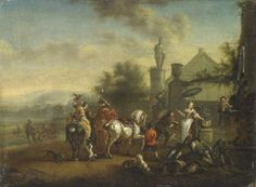 Carel Van Falens (1683-1733) Flemish Painter The artist was born in Antwerp, but most of his life had lived in France. In 1726, he was made a member of the Académie royale. His painting style was influenced by the great Flemish master Philips Wouwerman.