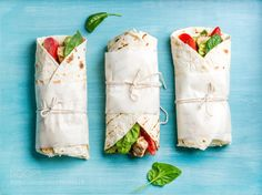 Healthy lunch snack. Tortilla wraps with grilled chicken fillet and fresh vegetables by 2enroute  IFTTT 500px
