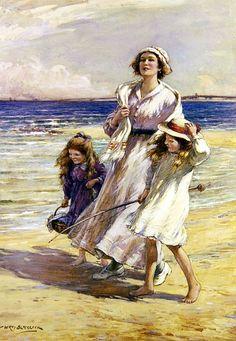 A Breezy Day at the Seaside  W.K. Blacklock.