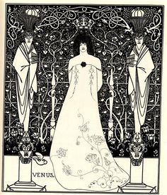 "fawnvelveteen: "" Frontispiece For 'Venus And Tannhauser' by Aubrey Beardsley """