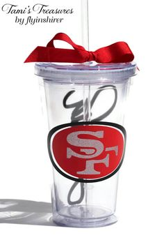 Niners Custom Tumbler 49ers Football Cup Custom by flyinshirer, $13.00