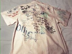 Wrote all over each other's shirts on our last day. | 24 Things British People Did At School That Would Be Weird Now