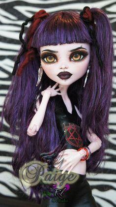 Monster High Makeup, Monster High Art, Custom Monster High Dolls, Monster High Repaint, Monster Dolls, Custom Dolls, Ever After High, Pretty Dolls, Beautiful Dolls