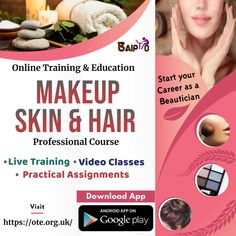 Start learning straight away with accredited online makeup, skin and hair course offered by OTE - Online Training and Education web portal. Join OTE now and acquire learning through live training, video classes and practical assignments.