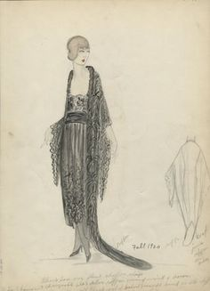 Fashion 1920s, Fashion Art, Fashion Ideas, Vintage Fashion, Art Nouveau, Downton Abbey Fashion, Fashion Shops, Fashion Patterns, Calf Length Dress