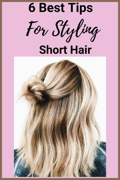Are you looking to style your short hair? Here is a step by step guide on how to style short and medium length hair. #shorthair #hairstylesforshorthair #messybun #braids #mediumhairstyles Blonde Ombre Hair, Blonde Hair Freckles, Blonde Hair Color Natural, Blonde Hair With Highlights, Short Hair Styles Easy, Braids For Short Hair, Medium Hair Styles, Curly Hair Styles, Short Hairstyles For Women