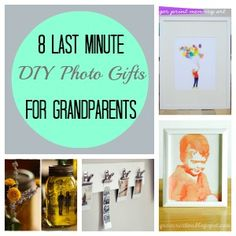 8 Last Minute DIY Photo Gifts For Grandparents  The DIY Watercolor Portraits look ALMOST do-able!