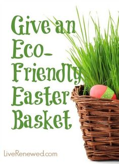 10 ideas for green and homemade easter gifts green in 365 give an eco friendly easter basket negle Image collections