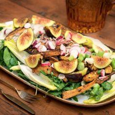 Λιβανέζικη σαλάτα με γλυκοπατάτα και σύκο