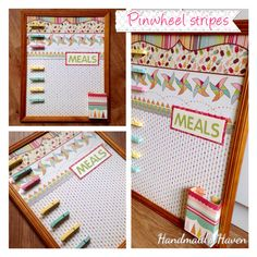 'Pinwheel Stripes' Meal Planner. $50 + postage or local pick up Springfield Lakes. Visit my FB page 'Handmaid's Haven' for more info or to place an order.