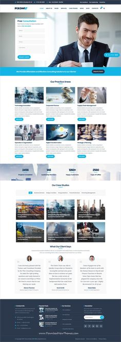 Pixomi is clean and modern design responsive multipurpose #WordPress template for business #consultation and professional services #website to live preview & download click on image or Visit #responsivedesign