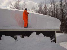 photo toit maison tempête de neige