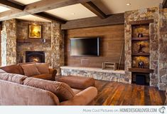 15 Pretty Brown Living Rooms