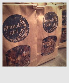 Granola girl granola is homemade and natural...organic and locally sourced ingredients. Honey Cherry Almond and Maple Pecan. Granola girl bakery will also be selling in season baked goods and homemade marshmallows perfect for a cup of cold weather hot chocolate. Look for granola girl downtown valparaiso locations like rtrail collective edge and others soon.