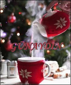 Ana Rosa - cutest tea cozy and cup cozy ever! Noel Christmas, Winter Christmas, All Things Christmas, Christmas Morning, Good Morning Winter, Christmas Coffee, Christmas Kitchen, Elegant Christmas, Cozy Winter