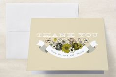Antique Bouquet Thank You Cards
