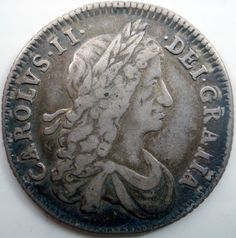1663 Charles II silver shilling first bust die axis as usual Ref: Spink 3371 See images for a proper impression of this lot. Old British Coins, Great Britain, Old And New, Auction, England, Silver, House, Home, English