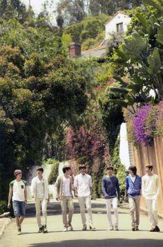 Sunggyu, Dongwoo, Woohyun, Hoya, Sungyeol, L, and Sungjong  ♡ #INFINITE // 1st Photobook 'IDEA'