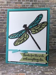 Dragonfly Dreams!  LOVE this bundle!  #stampinbj.com