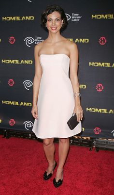 "Morena Baccarin at the season 2 premiere of ""Homeland""."