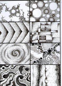 Dotted Drawings, Easy Drawings, Stippling Art, Texture Drawing, Elements Of Art, Grafik Design, Art Plastique, Teaching Art, Geometric Art